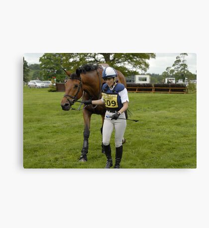 'Ok then, all finished now',Floors Castle Eventing May 21st 2011 Canvas Print