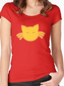 Cute kitty cat with whiskers Women's Fitted Scoop T-Shirt