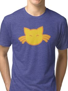 Cute kitty cat with whiskers Tri-blend T-Shirt