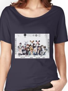 EXO - Collage Women's Relaxed Fit T-Shirt