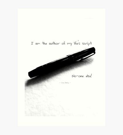 I am the author Art Print