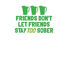 IRISH Friends don't let friends stay TOO sober with three jugs Photographic Print