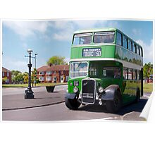 Vintage Bristol Bus Poster