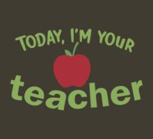 Today, I'm your TEACHER! with red apple by jazzydevil