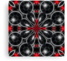 Black Bubbles Canvas Print
