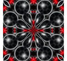 Black Bubbles Photographic Print