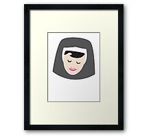 Smiling Nun Framed Print