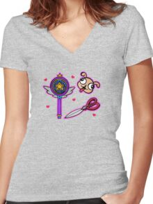 Star Vs. The Forces Of Evil Items Women's Fitted V-Neck T-Shirt