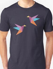 Pastel Paper Cranes Unisex T-Shirt
