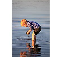 Looking for treasure Photographic Print