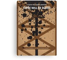No358 My There Will Be Blood minimal movie poster Canvas Print