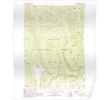 USGS Topo Map Oregon Crane Prairie 279495 1990 24000 Poster