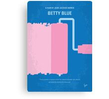 No359 My Betty Blue minimal movie poster Canvas Print