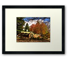 Cottage in the Country. Framed Print