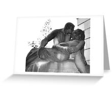 "Staglieno cemetery X - ""The last kiss"" Greeting Card"