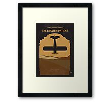 No361 My The English Patient minimal movie poster Framed Print