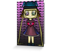 Cute Girl Heart Greeting Card