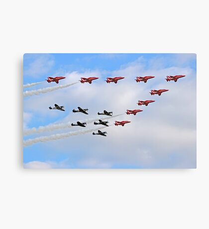 75 Years Tribute -  Battle of Britain Flypast Duxford Canvas Print