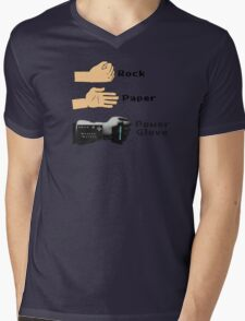 Rock Paper Powerglove Mens V-Neck T-Shirt