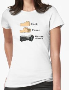 Rock Paper Powerglove Womens Fitted T-Shirt