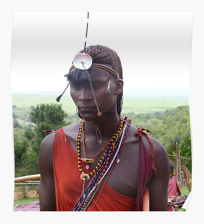 Masai Mara Warrior Poster