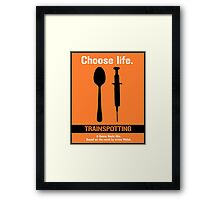 Trainspotting.  Framed Print