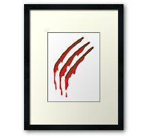 3 werewolf slashes Framed Print