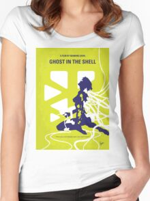 No366 My Ghost in the Shell minimal movie poster Women's Fitted Scoop T-Shirt