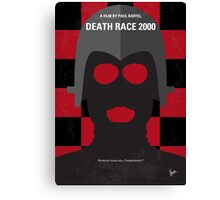No367 My Death Race 2000 minimal movie poster Canvas Print
