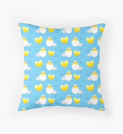 Chicks in eggs for Easter Throw Pillow