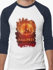 Travel To...  Gallifrey! Men's Baseball ¾ T-Shirt