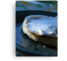 Morning Bagel  Canvas Print