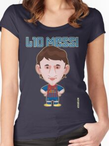 Leo Messi 2011/12 Women's Fitted Scoop T-Shirt
