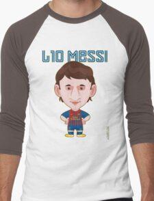 Leo Messi 2011/12 Men's Baseball ¾ T-Shirt
