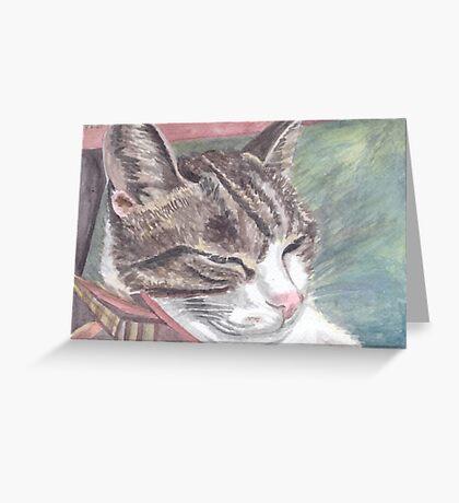 Maxfacto sleeping Greeting Card