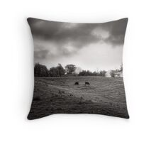 Cows at A Hill Throw Pillow