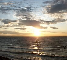 Spurn Point Sunset by Sarah Couzens