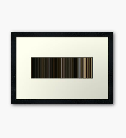Moviebarcode: The Fountain (2006) [Simplified Colors] Framed Print