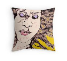 Meditating in the wind Throw Pillow