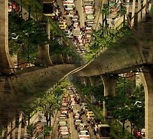 """Bangkok traffic"" -Thailand Series- by Alexander Bakumenko"