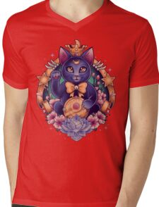 Maneki Luna Mens V-Neck T-Shirt