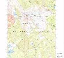 USGS Topo Map Oregon Broken Top 279147 1988 24000 by wetdryvac