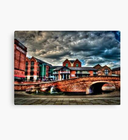 Nottingham Canal England 2011 HDR Canvas Print