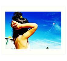 Flying Ariel Art Print