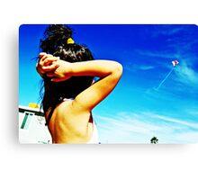 Flying Ariel Canvas Print