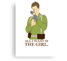 """Indiana Jones - """"All I Want is the Girl"""" Canvas Print"""