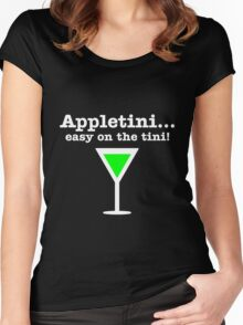 Appletini... Easy on the tini! Women's Fitted Scoop T-Shirt