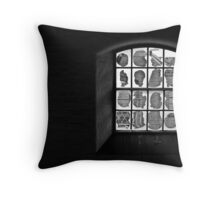 Jagged View Throw Pillow