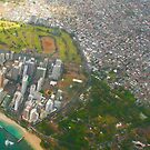 Areal view of Honolulu, OAHU HAWAII by Bruno Beach