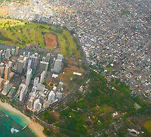 Areal view of Honolulu, OAHU HAWAII by Atanas Bozhikov NASKO